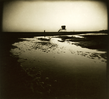 Pushing the low light capabilities of the Holga 120 here. Seabright Beach, I'm just out poking around looking for photos. This one came my way.