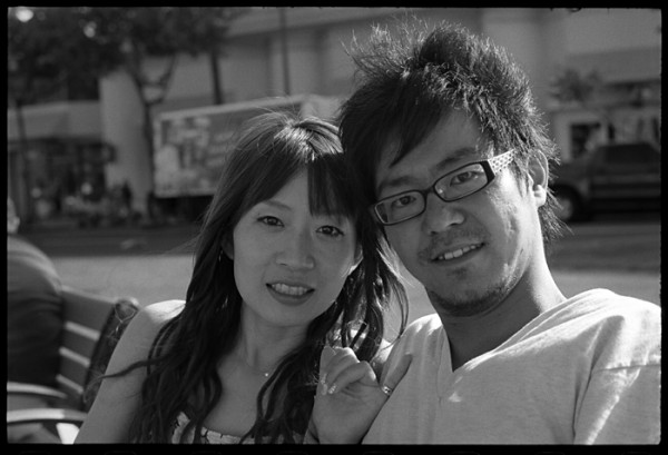 They were sitting near me on Kalakaua Ave. They had a look goin' and I wanted to photograph them. I speak no Japanese and they spoke no English. Somehow we got the photo made.