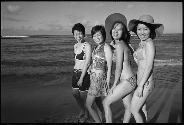 Everyone is a star on Waikiki Beach. They asked me to take photos of them with their cameras. I took this one with mine.