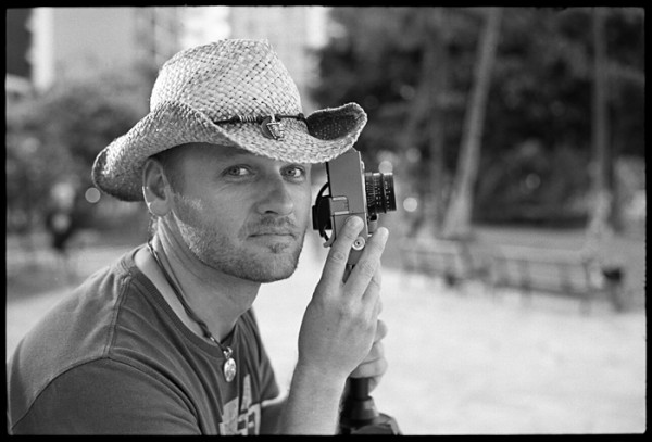 This is Andy from Germany. He was sporting a Leica M9 and a cool straw hat.