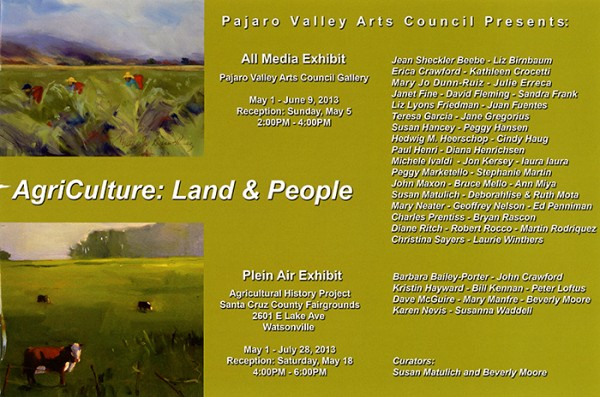 The Pajaro Valley Arts Council all media exhibit AgriCulture: Land & People opens tomorrow. I have three portraits from my Homeless Garden Project work in the show. Check it out!