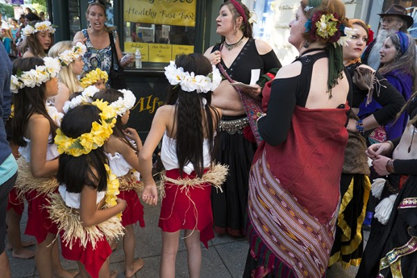 Thursday evening, Pacific Avenue, hundreds of dancers and dance enthusiasts gathered to celebrate National Dance Week.