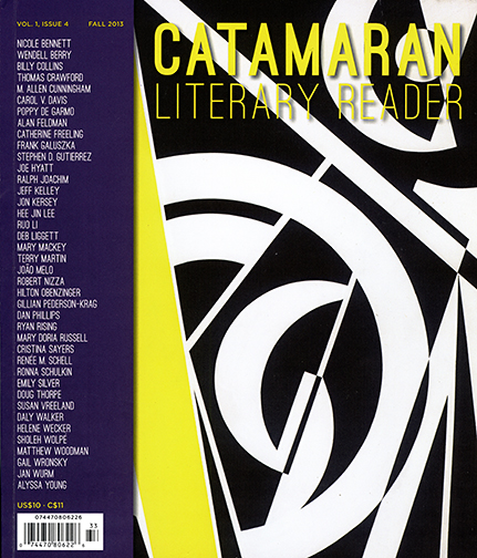 If you're in the Bookshop Santa Cruz pick up a copy of Catamaran Literary Reader. The Fall issue features three of my photographs and some good reading. Check out the Catamaran web site: www.catamaranliteraryreader.com
