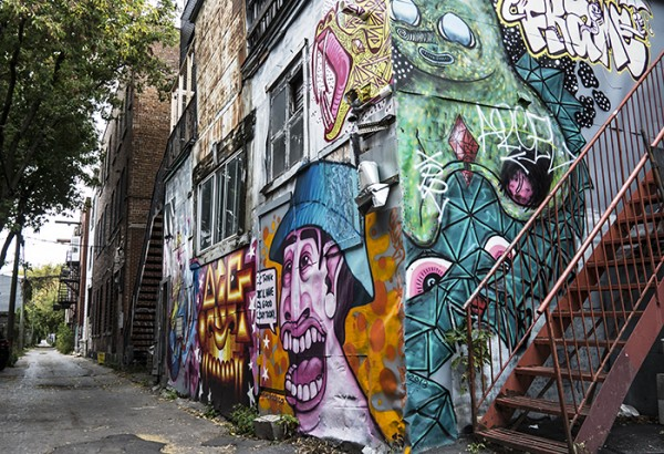 Graffiti alley, Mile End neighborhood.
