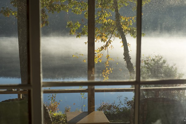 Morning view from the porch, Naidni Cottage, Lake Dunmore, Vermont.