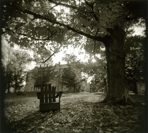 A classic scene at Middlebury College, October 2013. I just recently got around to printing this one.