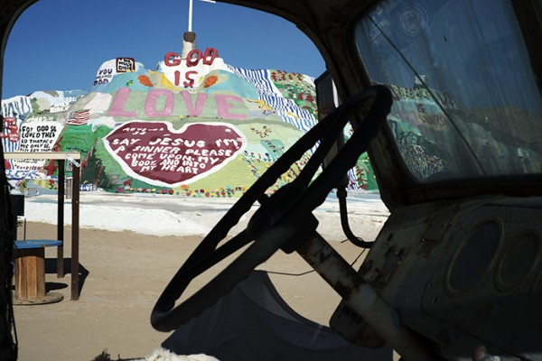 Leonard Knight's Salvation Mountain located just outside Niland. Photos don't do it justice.