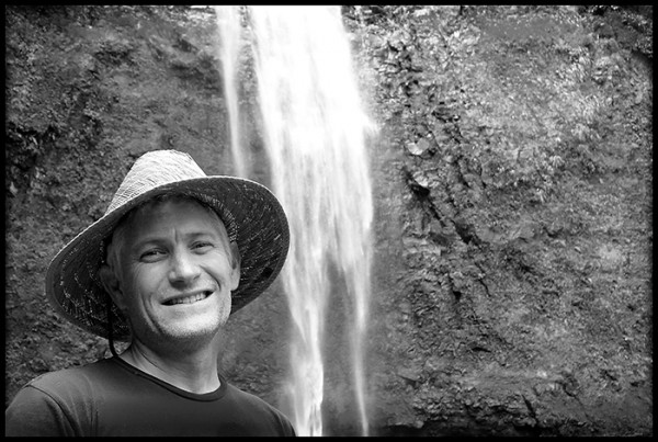 Paul, friend and photographer, Kauai resident and tour guide, Hanakapiai Falls, Kauai.
