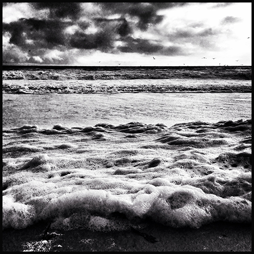 This afternoon at Seabright Beach.