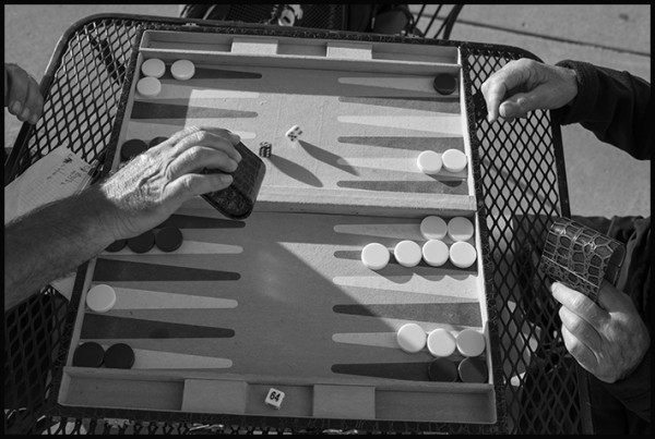 Backgammon on Beach Street. This I've never seen before!