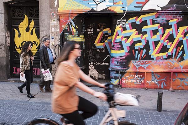The street art is an integral part of the neighborhoods.