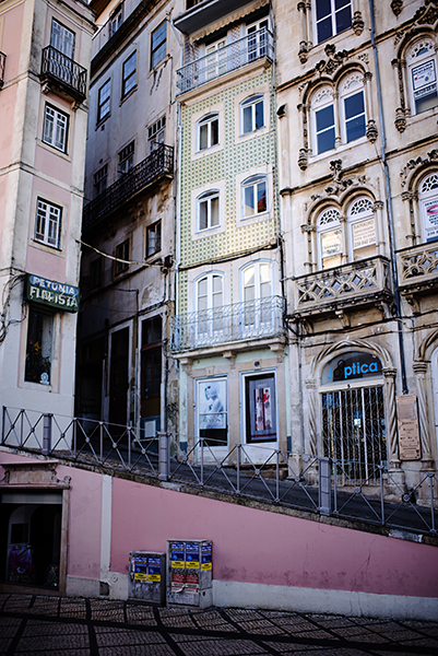 Coimbra is a university town with a beautiful historic center.