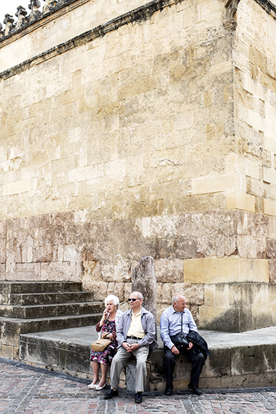 Outside the walls of the Mezquita.