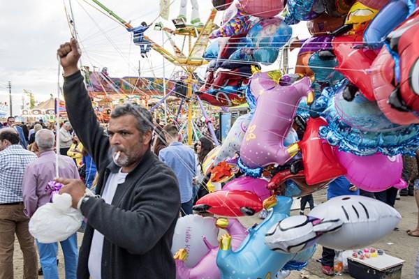 The balloon man.