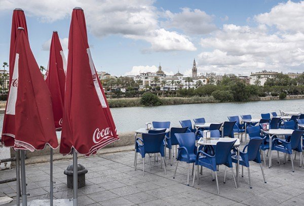 The view from the other side of the Rio Guadalquivir- looking across toward the city center.