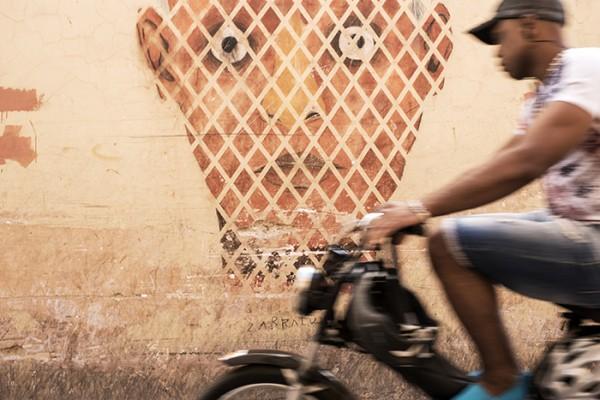 Dodging motorcycles in the Marrakech Medina!