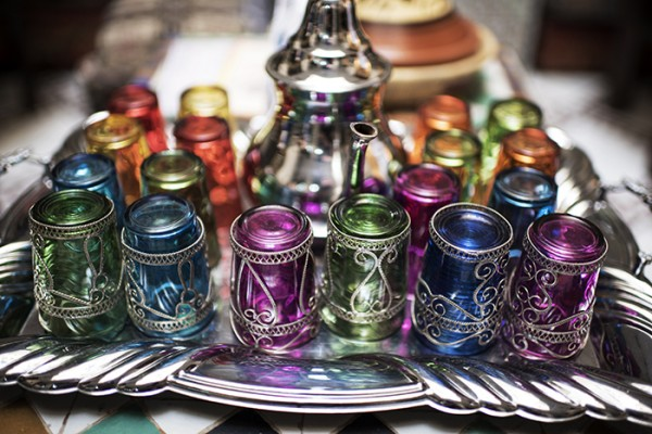 Mint tea glasses, Fes, Morocco