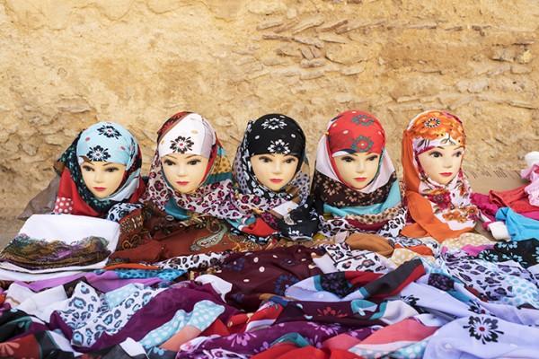 Scarves for sale, Fes, Morocco