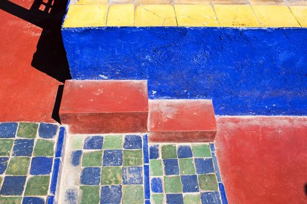 Steps and walkway, Marrakech, Morocco