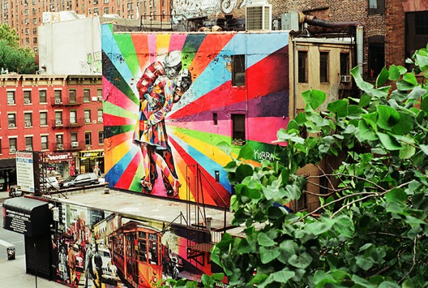 Seen from the Highline ( A million people have taken this photo!).