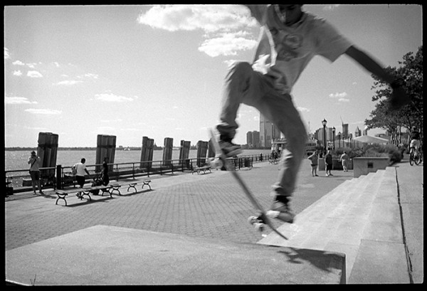 With all the concrete in Manhattan who needs a skatepark?