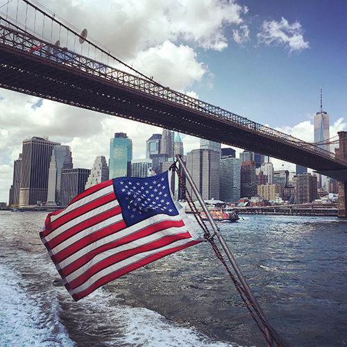 On the East River Ferry.