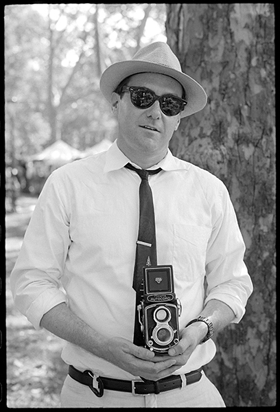 Here's a few more from the 10th annual Jazz Age Lawn Party on Governors Island. This is Mike with his classic camera.