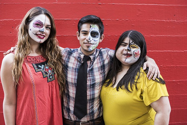 Angelica, Alejandro and Jasmina at the MAH Día de los Muertos Community Festival.
