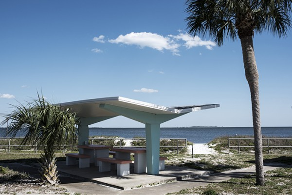 In the interest of time most of the trip was on big interstate highways. When we did travel on the smaller highways we usually came across a cool spot. This is a public beach on the Florida Panhandle. I love the retro look.