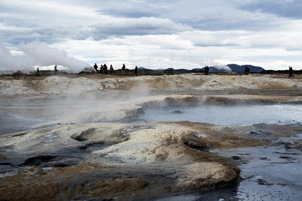 Hverir is a large geothermal area of mud pools, fumaroles and sticky red dirt. It's hot and stinky and not unlike being on another planet.