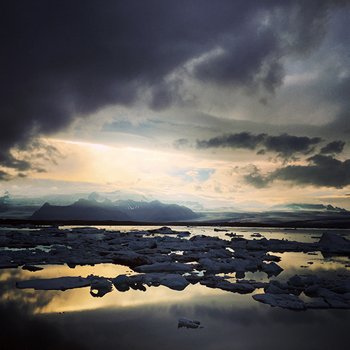 "Also known as ""glacier lagoon"", Jökulsárlón is another example of Iceland's dramatic landscape!"