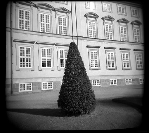 I found this little Holga scene in Frederiksberg Gardens, Copenhagen. The building in the background is the former royal Palace.